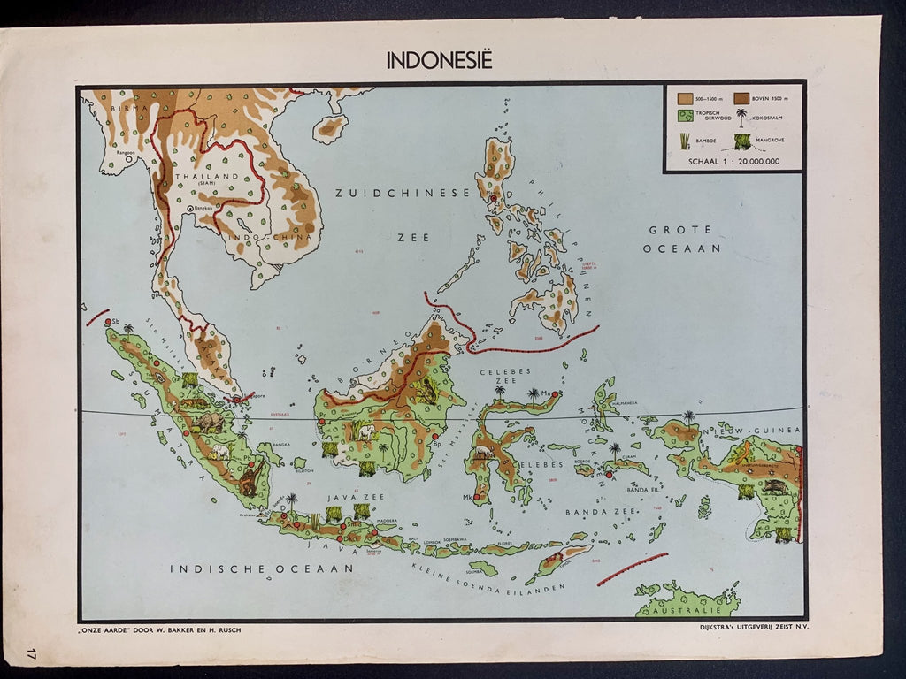 Indonesië - 1951 - World of Maps & Travel