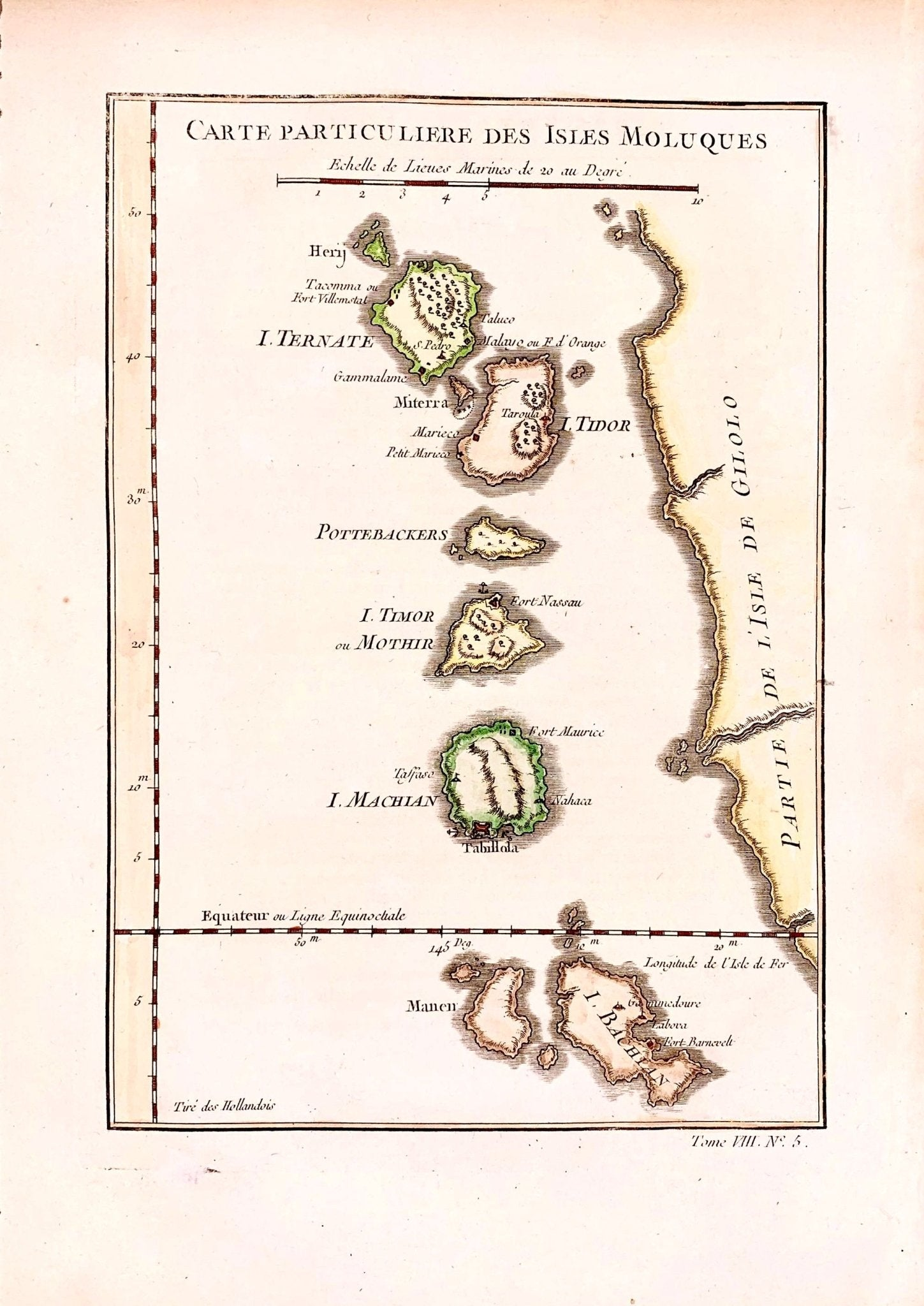 Indonesië, Maluku Islands; Molukken ; Bellin - Carte particuliere des Isles Moluques - 1751-1760 - World of Maps & Travel