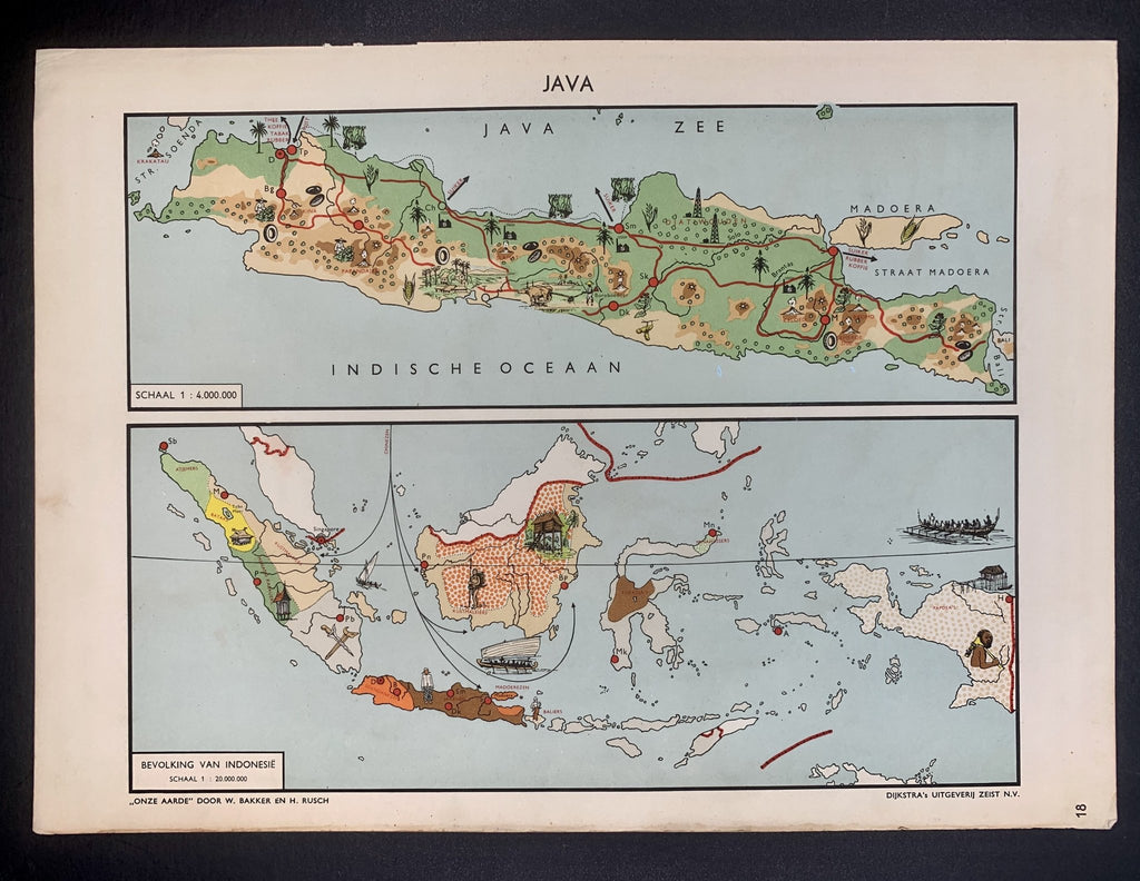 Java - Bevolking van Indonesië - 1951 - World of Maps & Travel