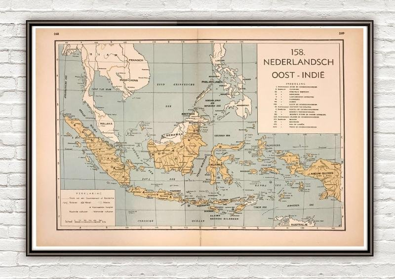 Nederlands Oost Indië - 1939 - World of Maps & Travel