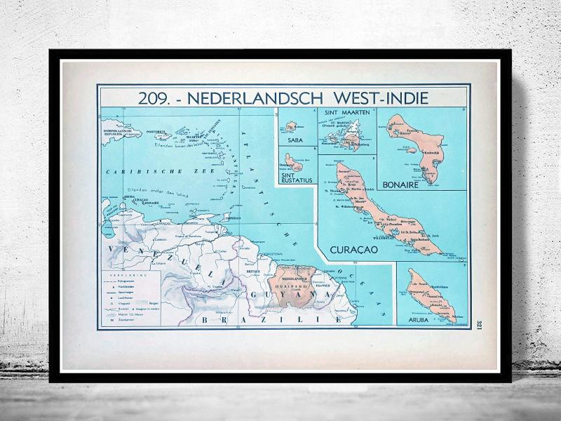 Nederlands West - Indië (Nederlandse Antillen & Suriname) - 1939 - World of Maps & Travel