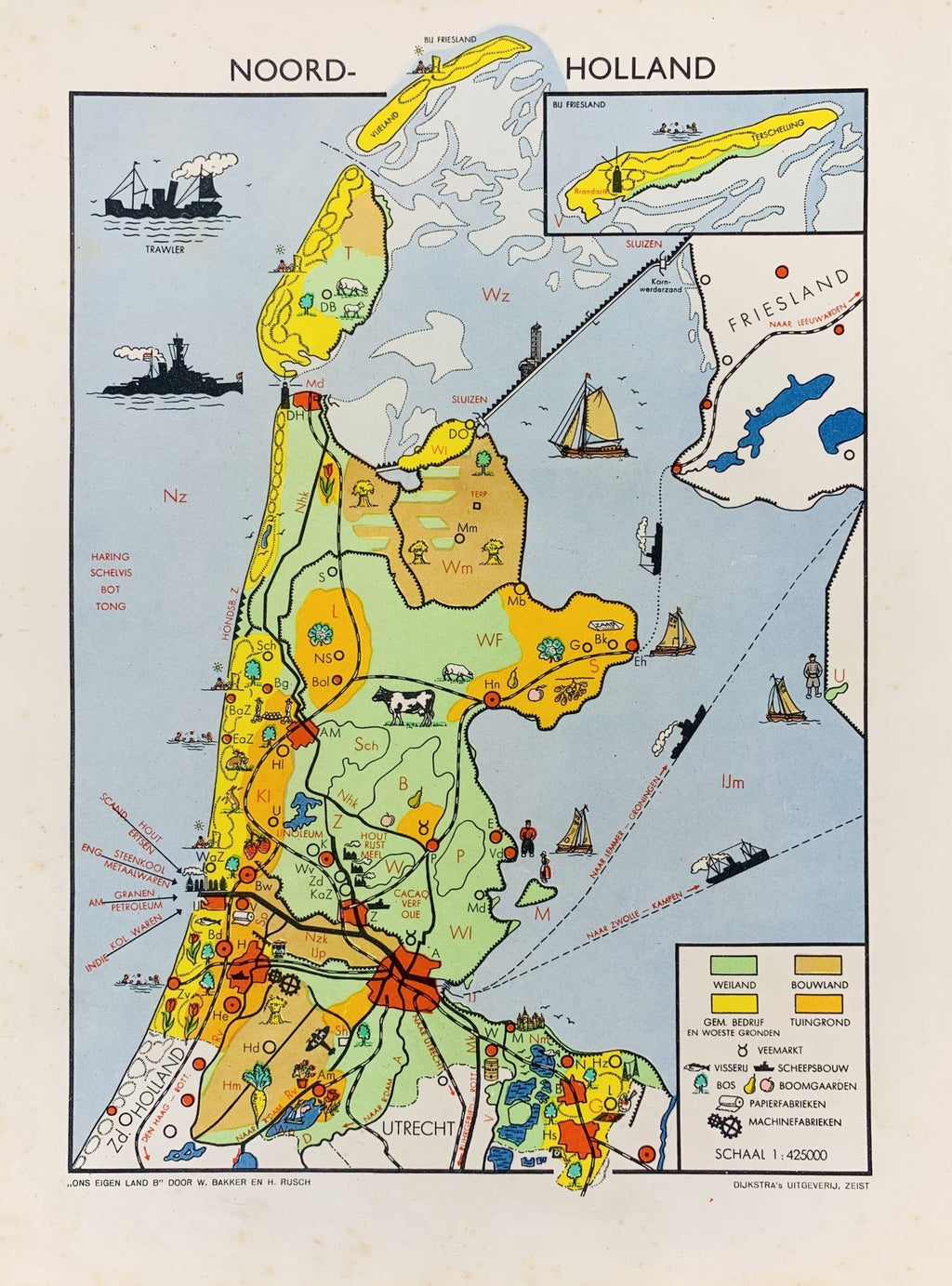 Noord Holland - 1948 - World of Maps & Travel