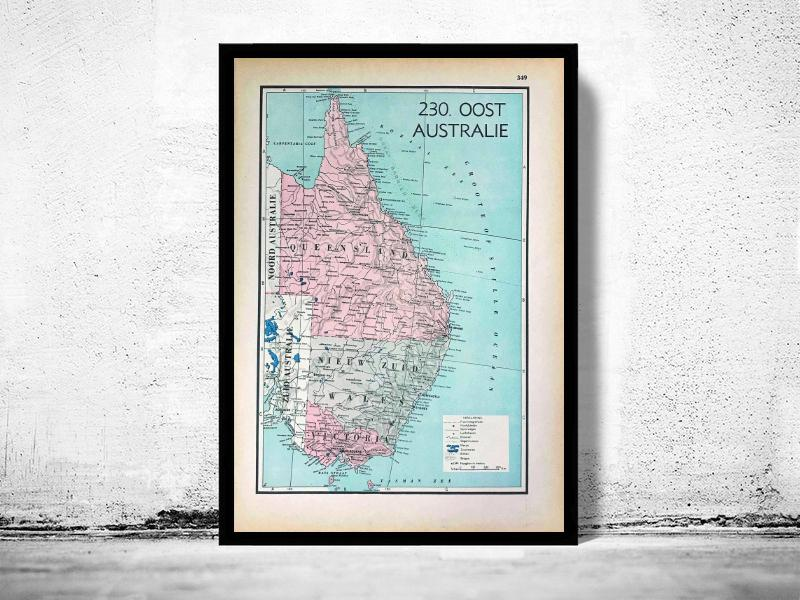 Oost Australië - World of Maps & Travel