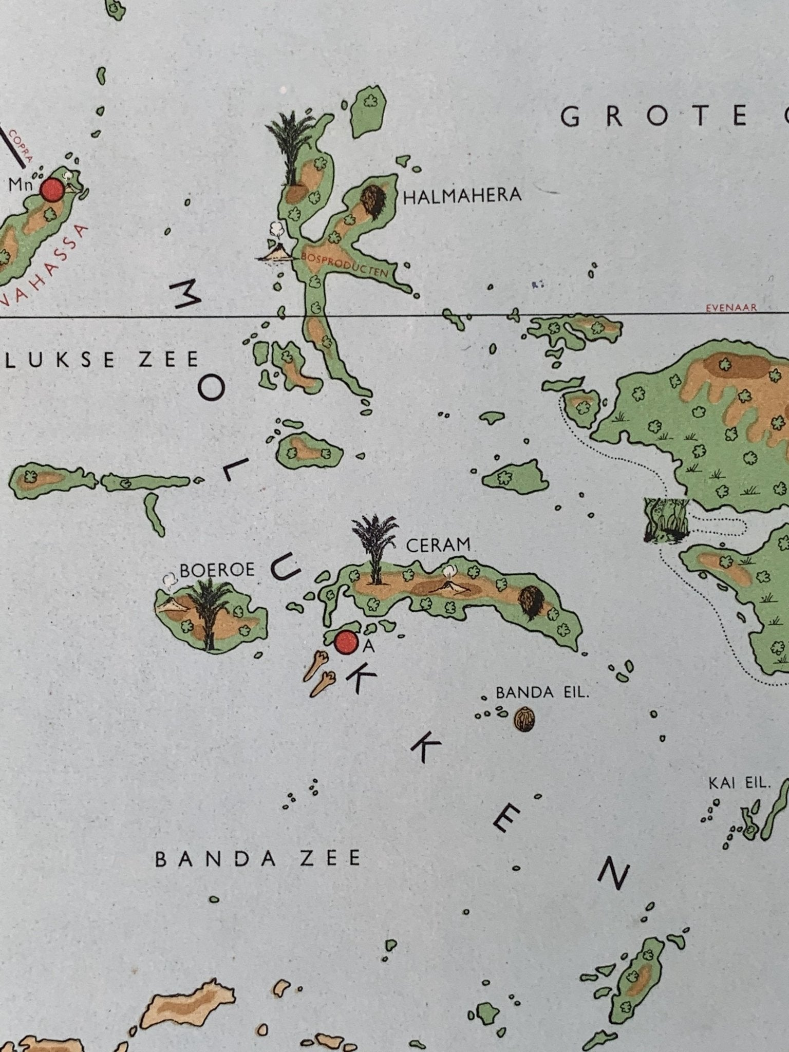 Oost Indonesië - Molukken - Nieuw-Guinea - 1951 - World of Maps & Travel