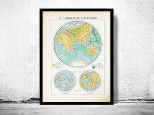 Oostelijk Halfrond - 1939 - World of Maps & Travel