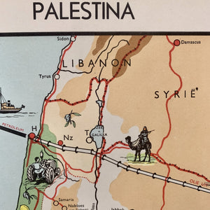 Palestina - 1951 - World of Maps & Travel