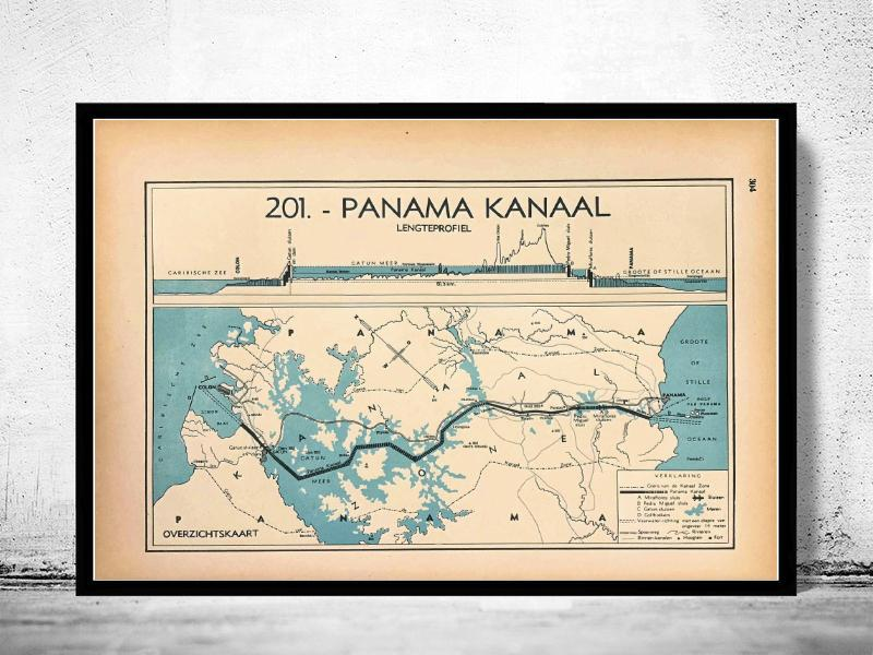 Panama Kanaal - World of Maps & Travel