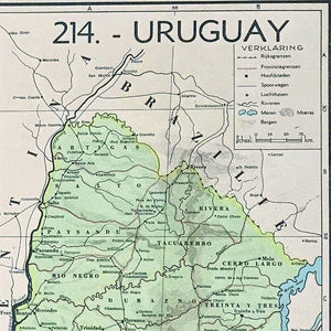 Paraguay & Uruguay - 1939 - World of Maps & Travel