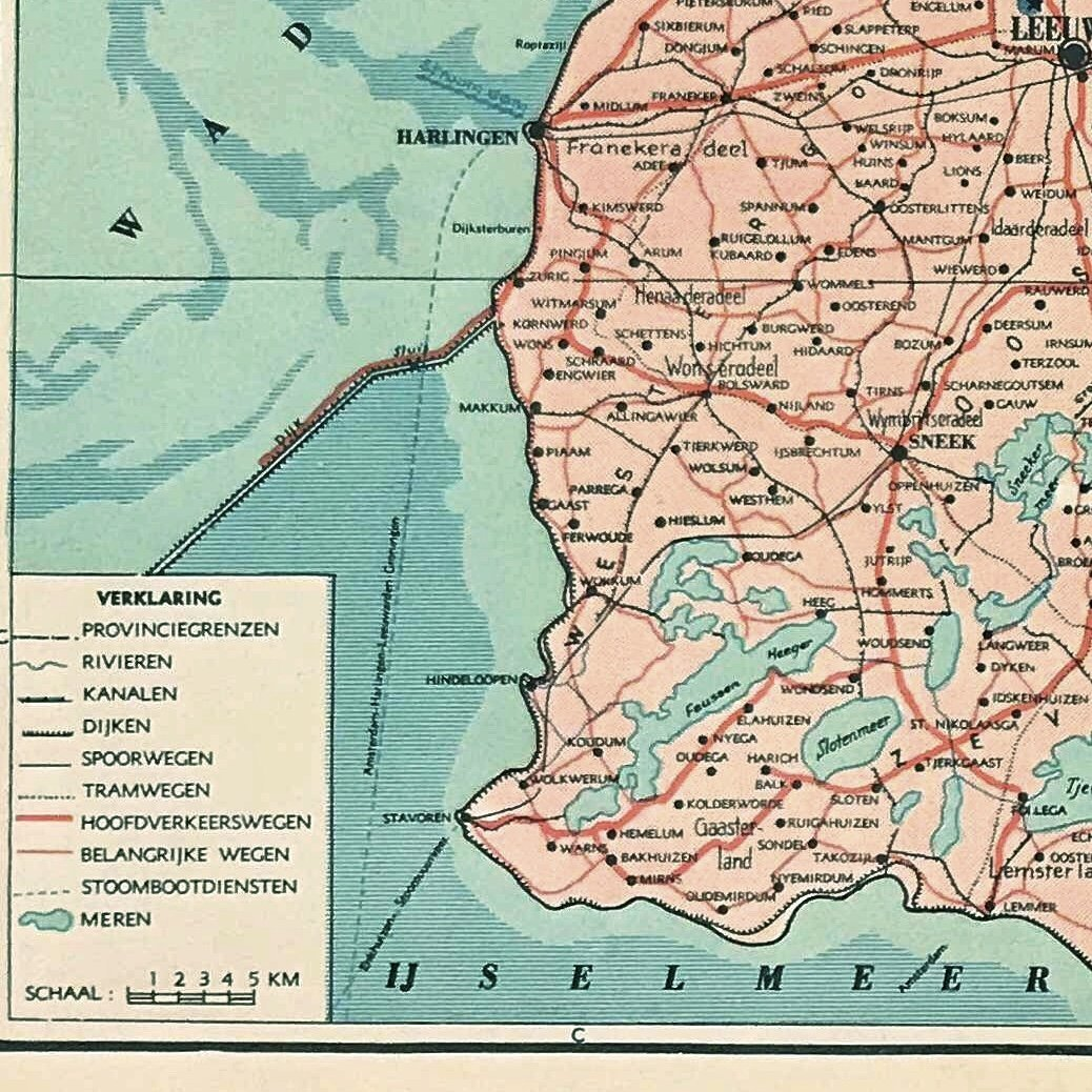 Provincie Friesland - 1939 - World of Maps & Travel
