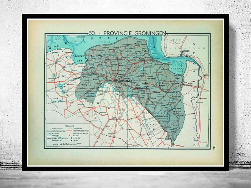 Provincie Groningen - 1939 - World of Maps & Travel
