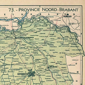 Provincie Noord Brabant - 1939 - World of Maps & Travel