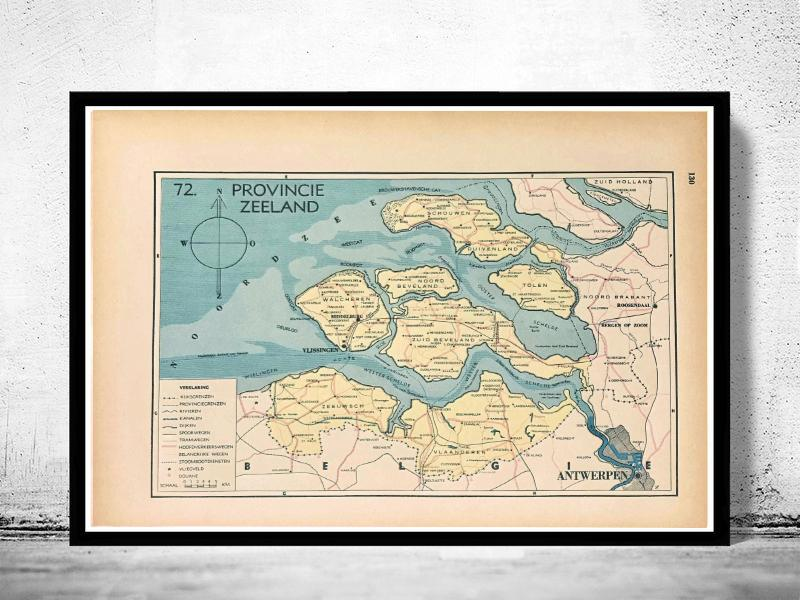 Provincie Zeeland - 1939 - World of Maps & Travel