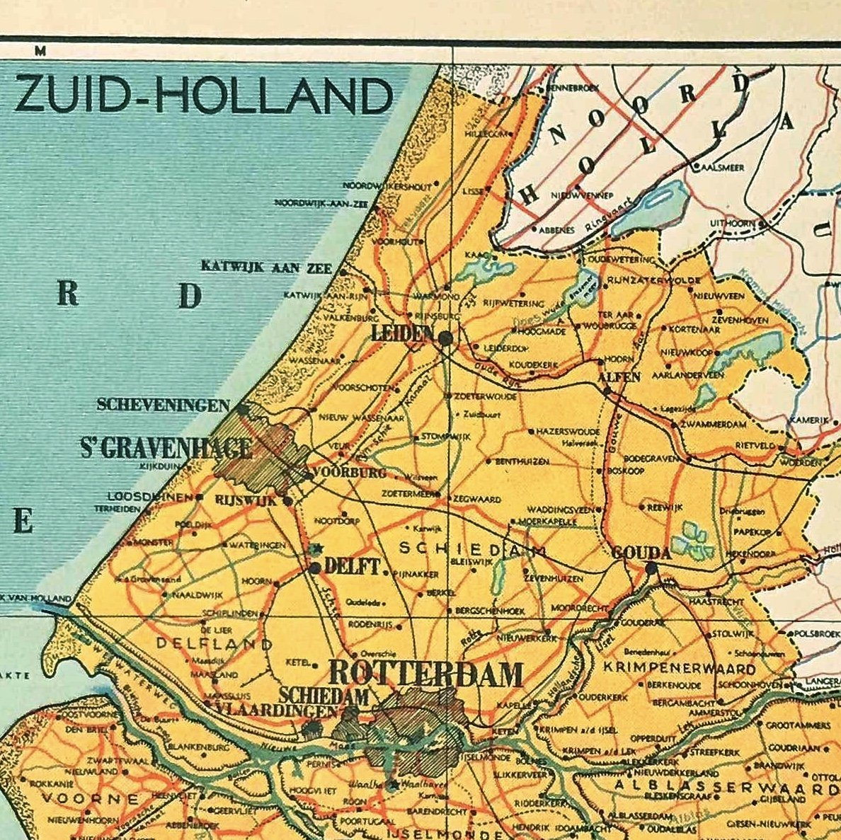 Provincie Zuid Holland - 1939 - World of Maps & Travel