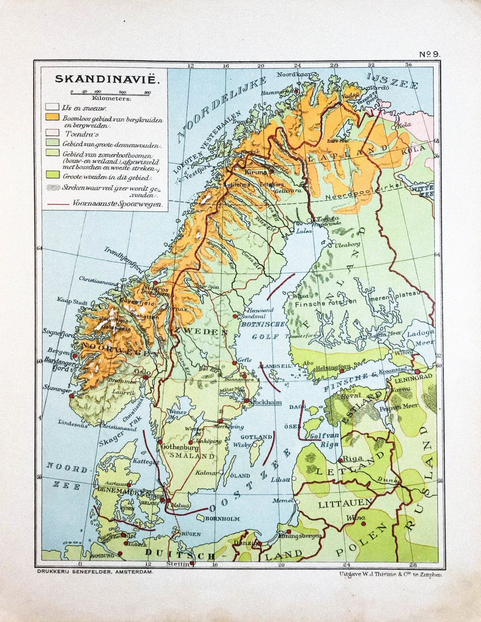Scandinavië - 1930 - World of Maps & Travel