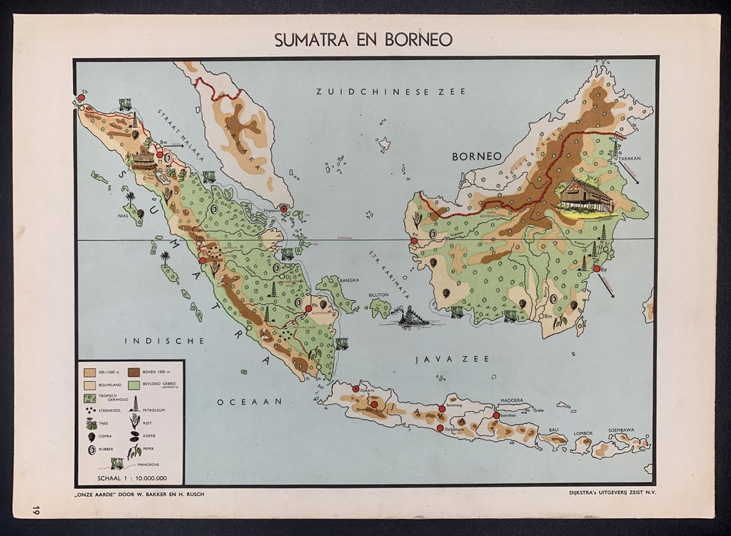 Sumatra en Borneo - 1951 - World of Maps & Travel