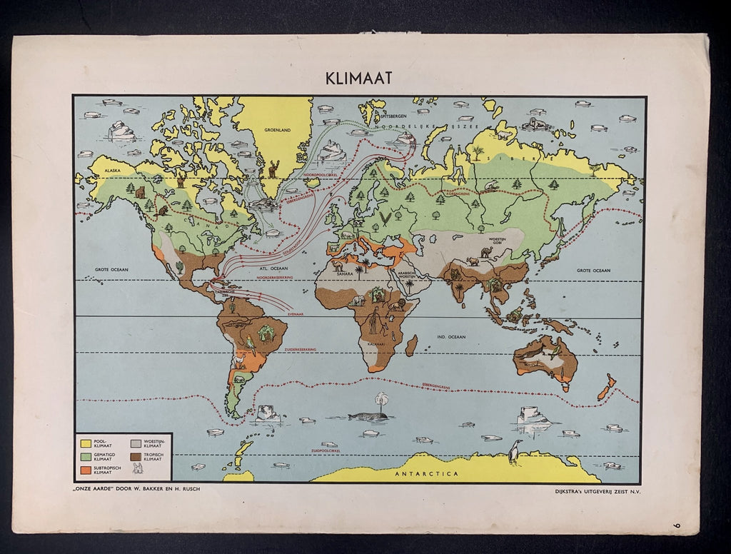 Wereldkaart - Klimaat - 1951 - World of Maps & Travel