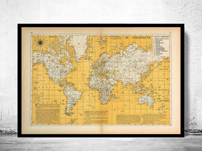 Wereldkaart - Kolonisatie - 1939 - World of Maps & Travel