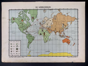 Wereldkaart - Werelddelen - 1951 - World of Maps & Travel