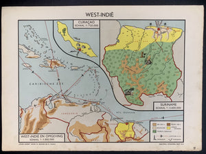 West - Indië (Nederlandse Antillen & Suriname) - 1951 - World of Maps & Travel