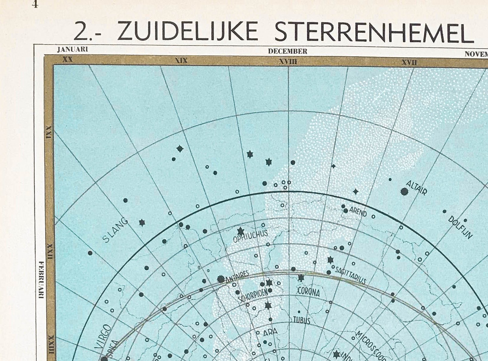 Zuidelijke Sterrenhemel - 1939 - World of Maps & Travel