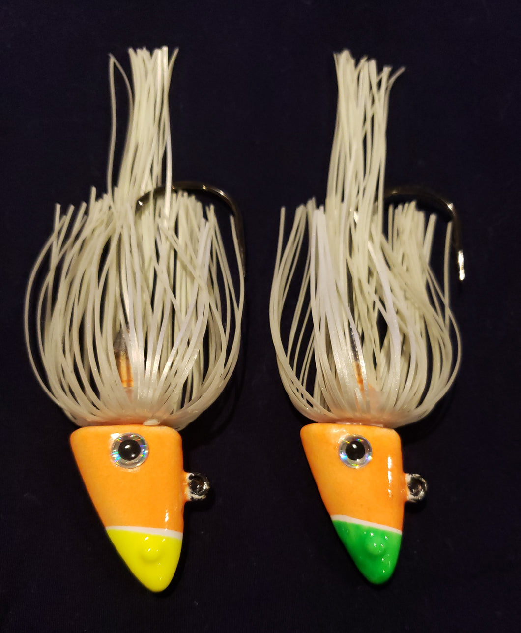 Shad Head w/Skirt - Glow Orange or Glow Red