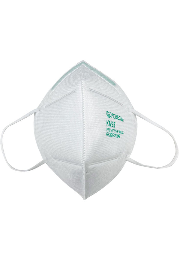 10Pcs Powecom KN95 Protective Mask KN95 Mouth Mask Safety Antibacterial KN95 Safety Face Cover