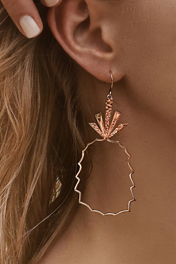 Lolglas Simple Pineapple Shape Earrings