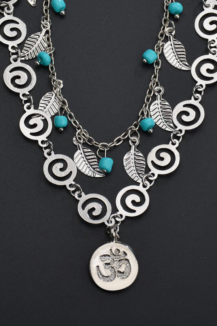 Ethnic 3D Turquoise Decor Anklet Chain
