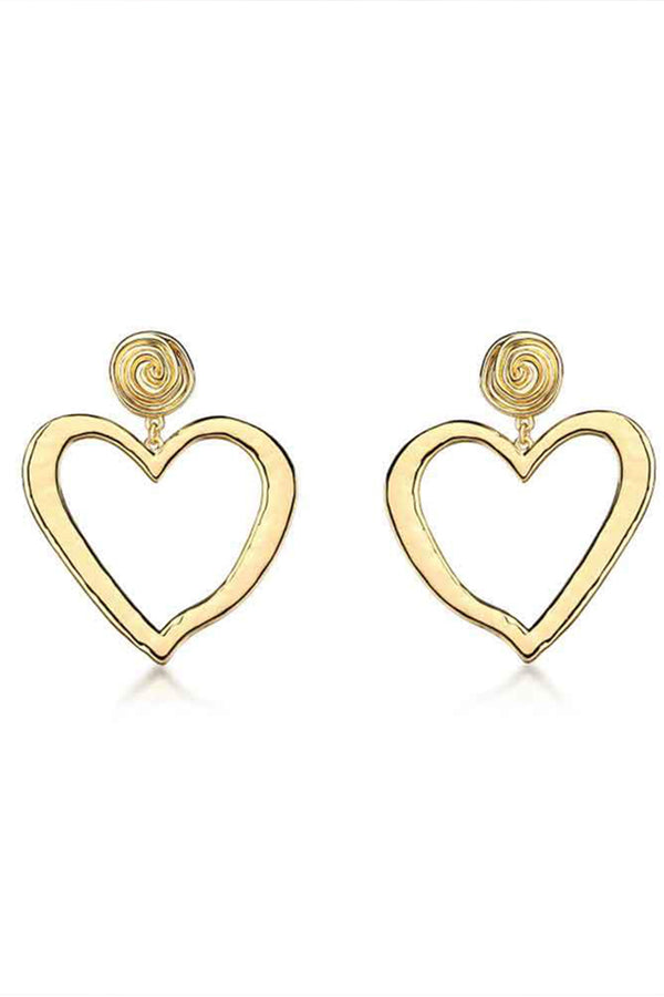 Lolglas Hollow Out Heart Shape Stud Earrings