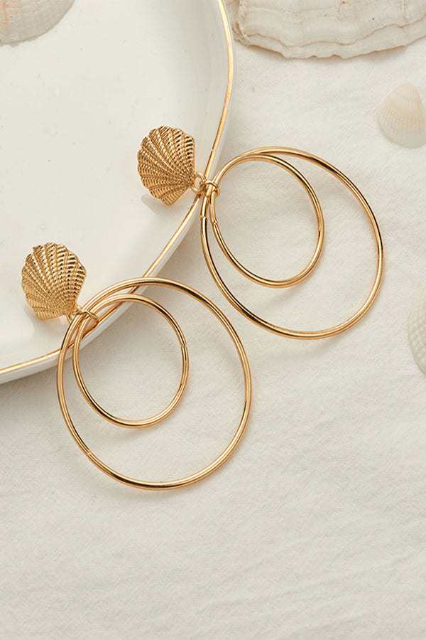 Lolglas Shell and Annular Shape Earrings