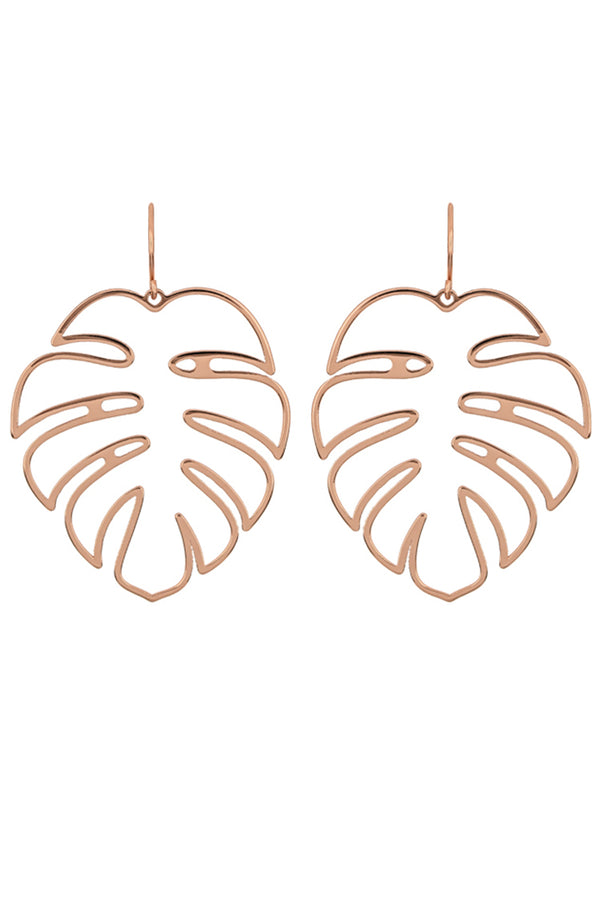 Lolglas Hollow Out Leaf Shape Earrings