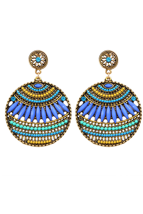Lolglas Bohemian Geometric Rhinestone Earrings