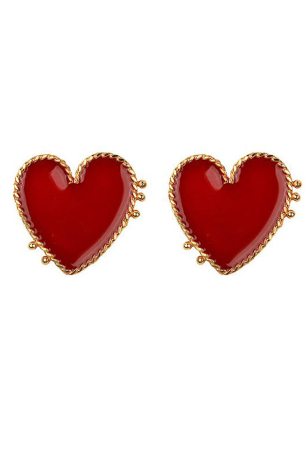 Lolglas Lovely Heart Shape Stud Earrings