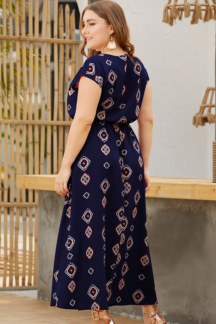Lolglas Ethnic Printed Holiday Maxi Dress