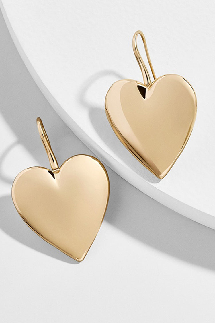 Lolglas Heart Pendant Hook Earrings