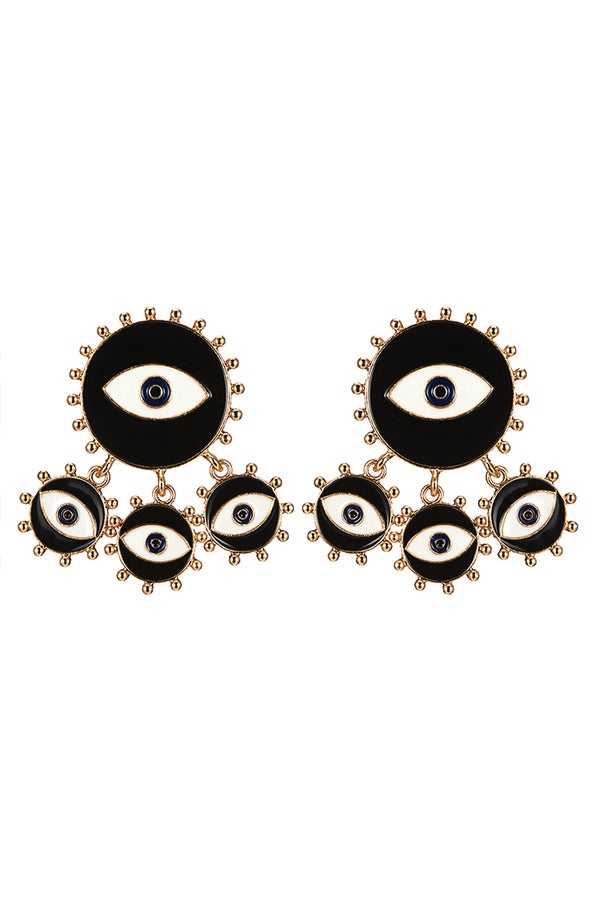 Lolglas Stylish Eyes Pendant Earrings