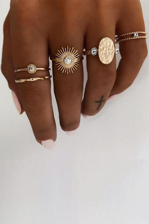 5-piece Bohemian Ethnicity Ring Set