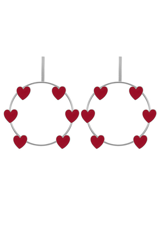 Lolglas Bohemian Heart Shape Round Earrings