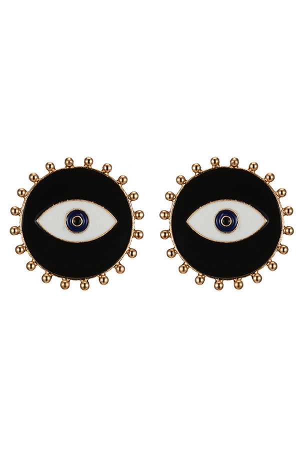 Lolglas Sunflowear Eyes Stud Earrings