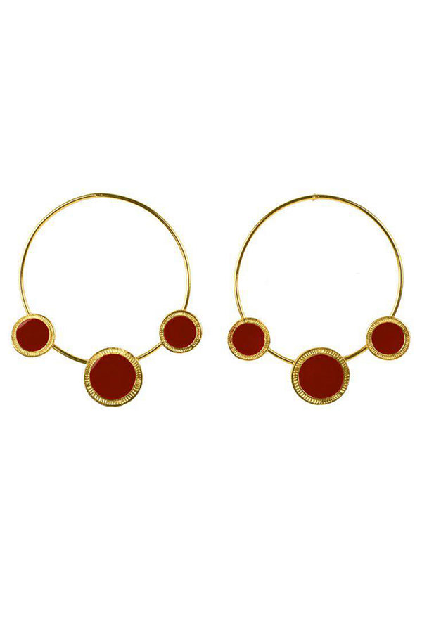 Lolglas Geometric Round Shape Earrings