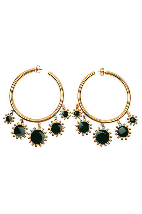 Lolglas Stylis Sunflower Round Earrings