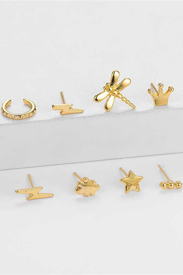 8-piece Bohemian Crown Decor Earring Set
