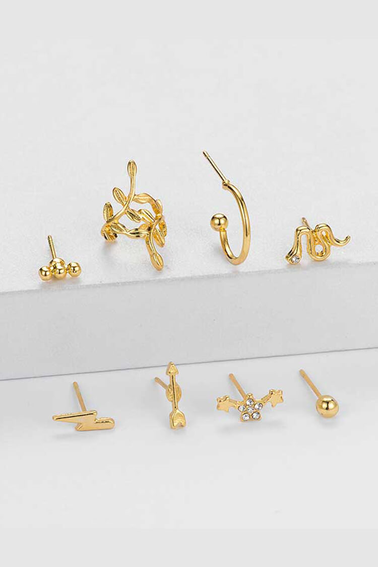 8-piece Bohemian Snake Shape Decor Earring Set