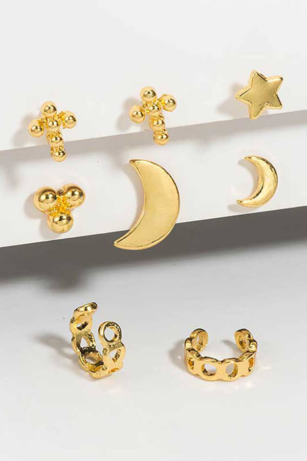 8-piece Bohemian Star Moon Decor Earring Set
