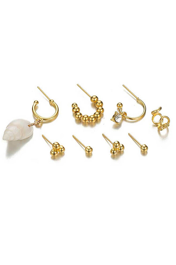 8-piece Boho Shell Decor Earring Set