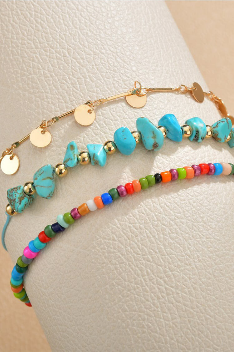 Bohemian Colorful Turquoise Decor Anklet Chain