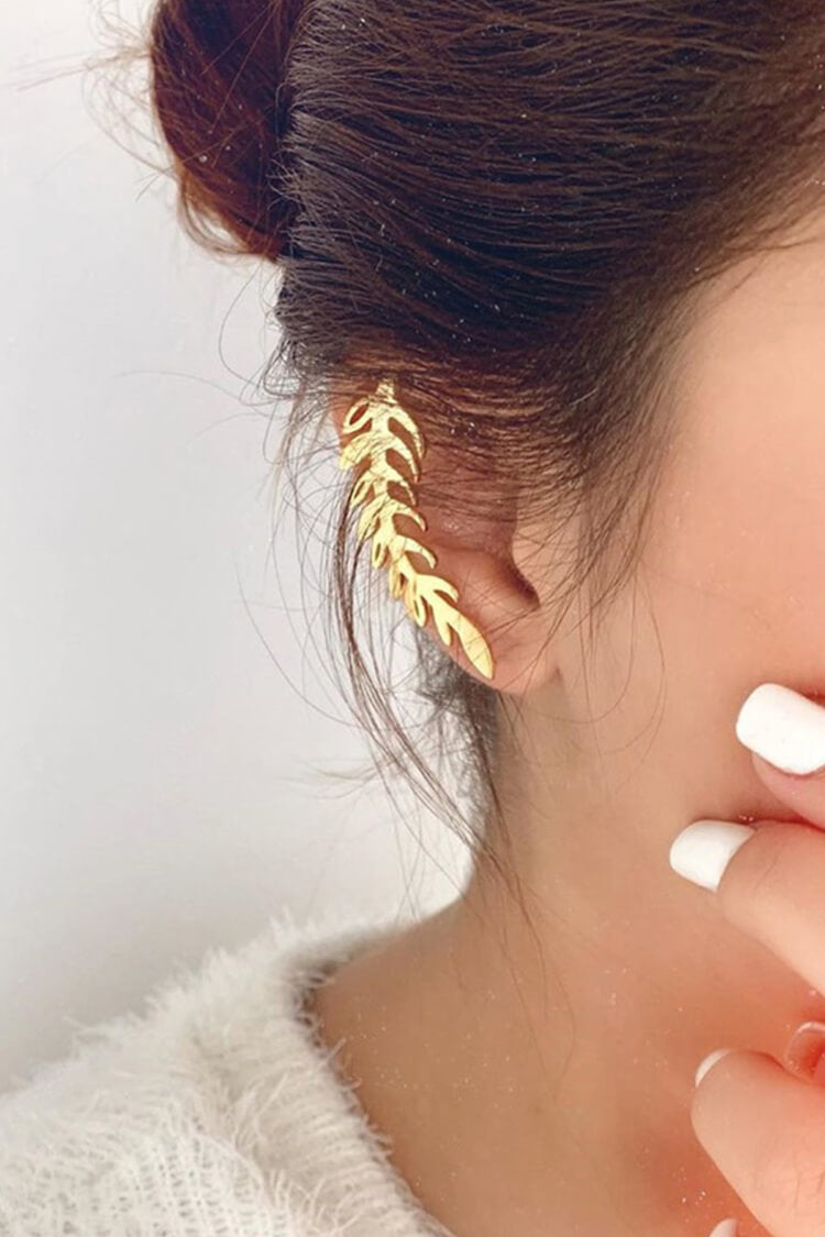 Golden Leaf Shape Earrings