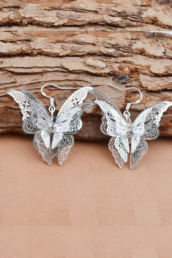 Hollow Out Butterfly Earrings