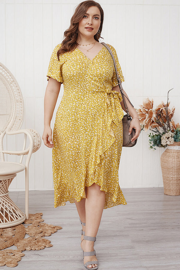 Plus Size Asymmetry High Low Bohemian Sundress