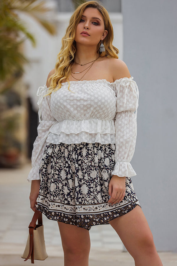 Plus Size Bohemian Loose Print Shorts